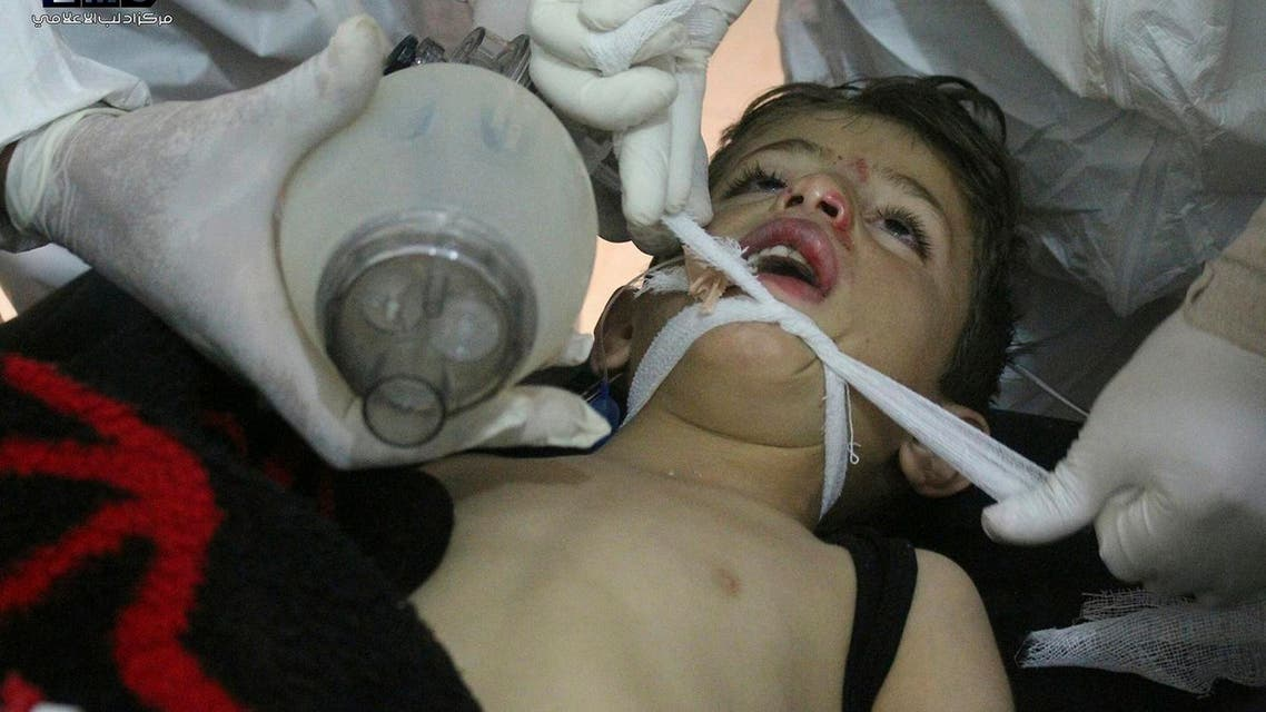 The toxic gas attack on April 4, which killed scores of children, prompted the US to launch missile strikes on a Syrian air base. (AP)