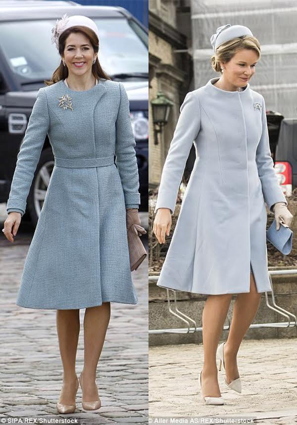 سمت چپ شاهدخت مری ولیعهد دانمارک و سمت راست ماتیلدا ملکه بلژیک