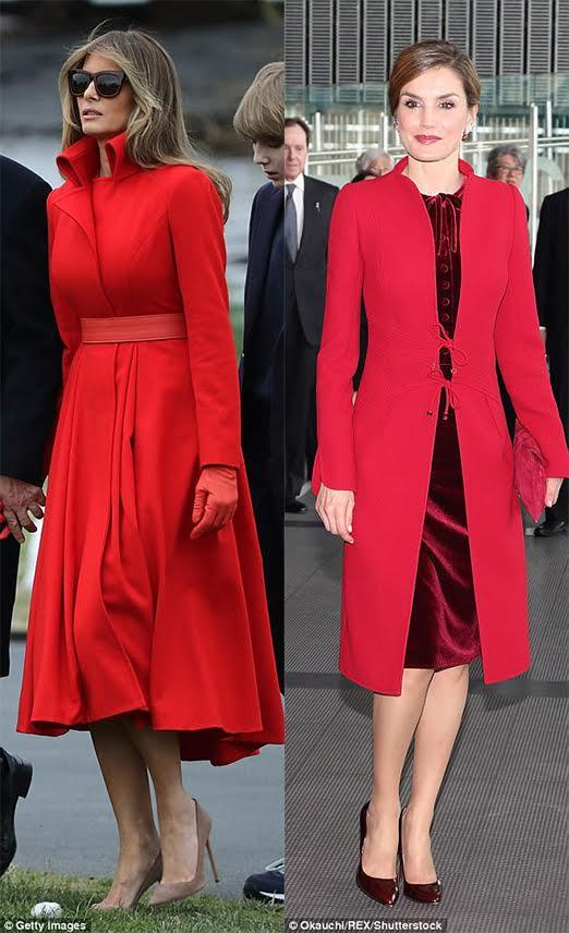 ملکه لتیزیا از اسپانیا و ملانیا بانوی اول آمریکا