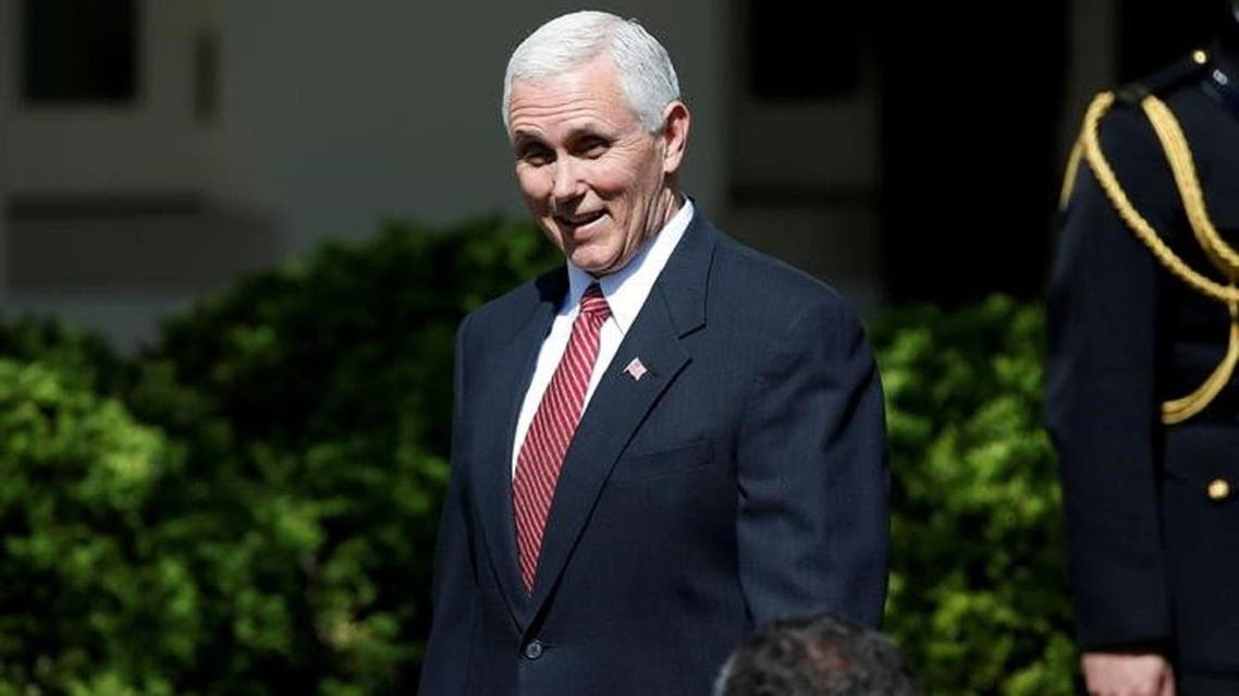 US Vice President Mike Pence in Washington on April 10, 2017. Pence's Seoul stop kicks off a long-planned 10-day trip to Asia - his first as vice president - and comes amid concerns that Pyongyang could soon conduct its sixth nuclear test. (Reuters)