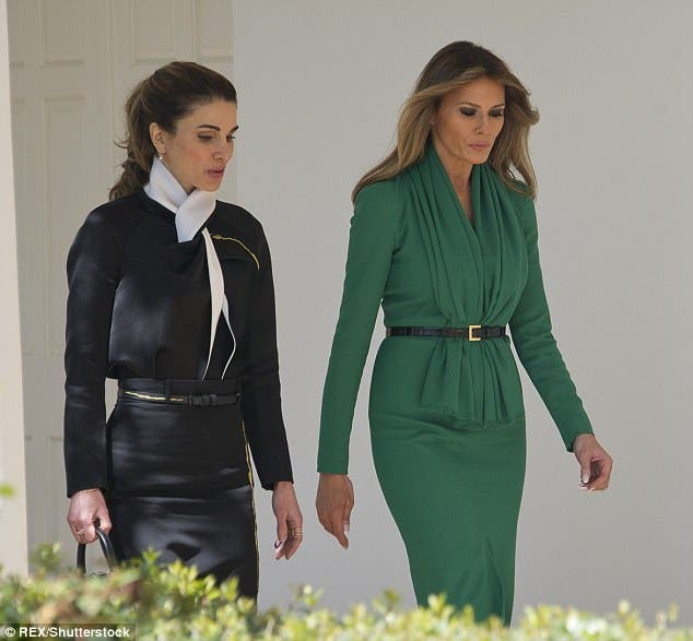ملکه رانیا همسر پادشاه اردن و ملانیا بانوی اول آمریکا