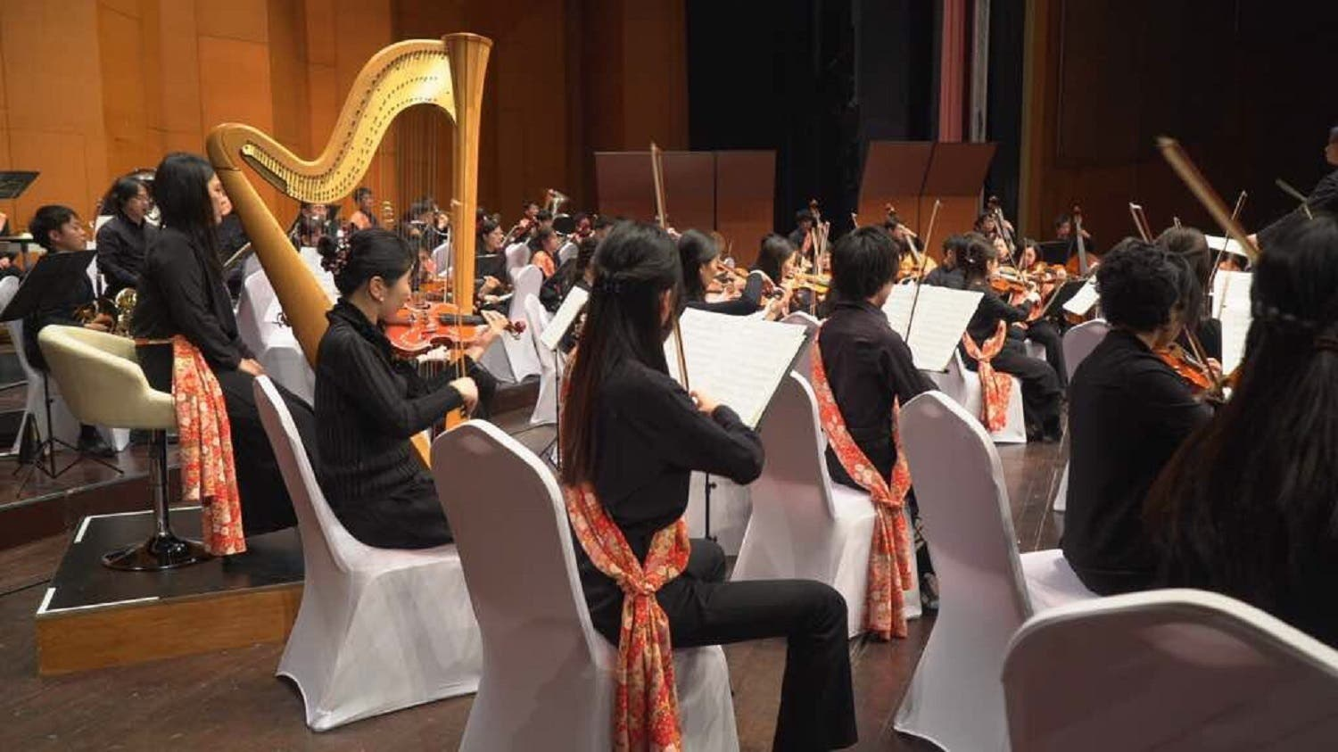 The more than 80-strong Japanese orchestra comprised instrumentalists and choir artists. (Supplied)