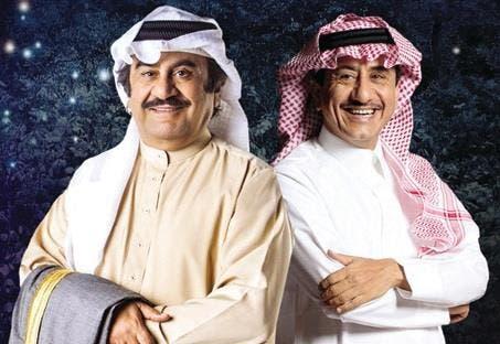 عبدالحسين عبدالرضا مع ناصر القضبي