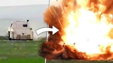 فيديو.. تفجير مدرعة موت داعشية في الموصل