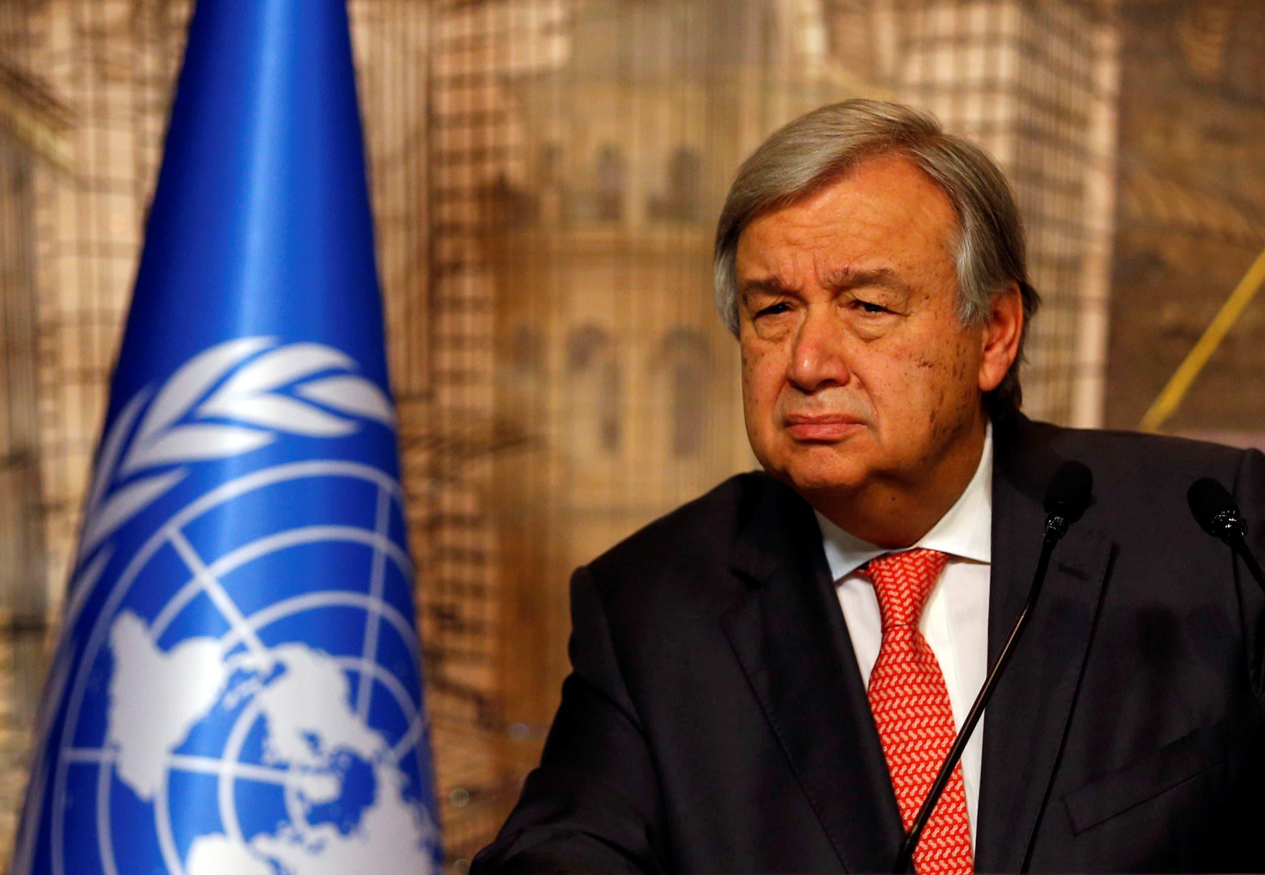 U.N. Secretary-General Antonio Guterres. (REUTERS)