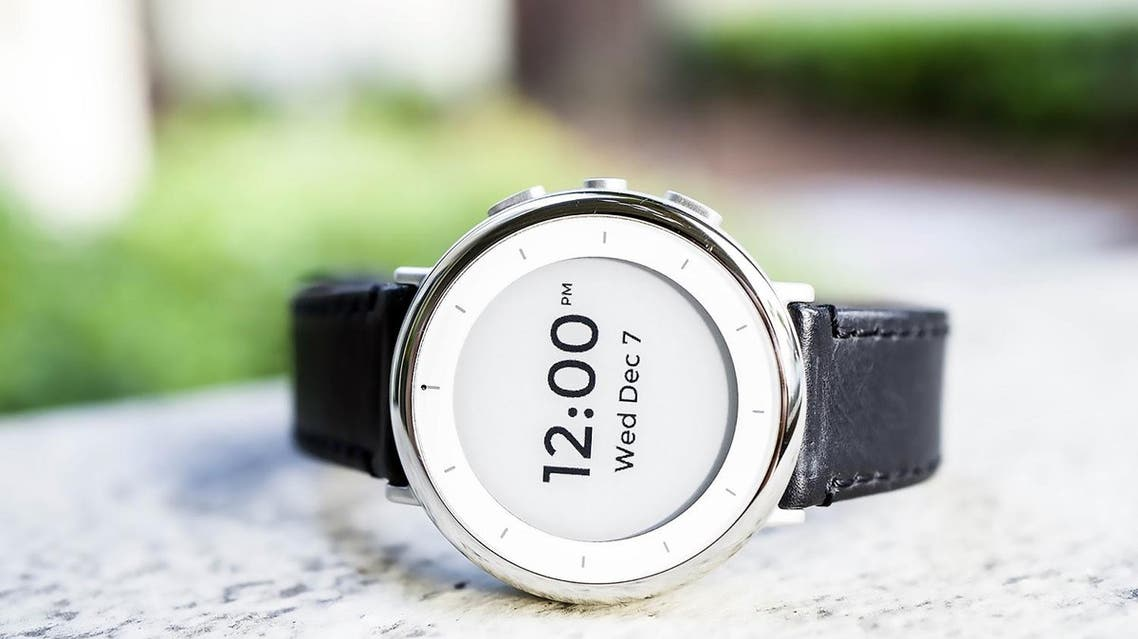 Verily's wrist-worn 'Study Watch' designed to gather complex health data in clinical studies. (AFP)