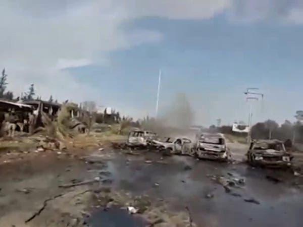 حلب.. 100 قتيل في تفجير حافلات أهالي الفوعة وكفريا