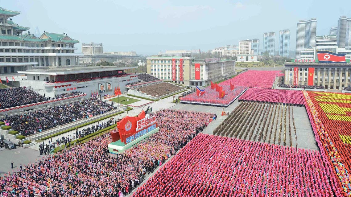 A view of a parade celebrating the 105th birth anniversary of founder Kim Il Sung in Pyongyang, North Korea April 15, 2017 in this photo released by North Korea's Korean Central News Agency (KCNA) on April 16, 2017. (Reuters)