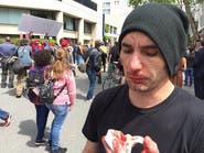 اشتباكات عنيفة بين أنصار ومعارضي ترمب في  كاليفورنيا