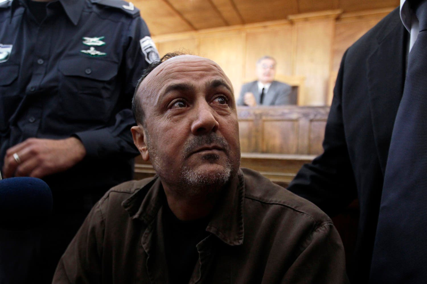 A file photo of jailed Fatah leader Marwan Barghouti (Reuters)
