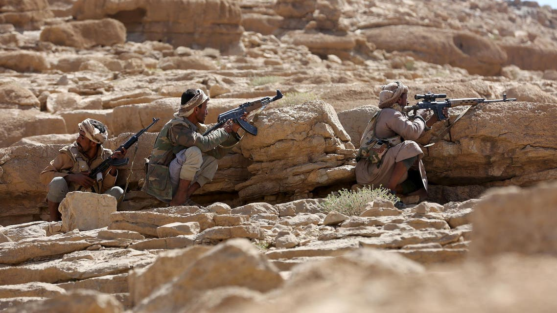 Pro-government tribal fighters take positions as they secure the Furdhat Nihem area after Yemen's army took it from Houthi militants near the capital Sanaa February 3, 2016. (Reuters)