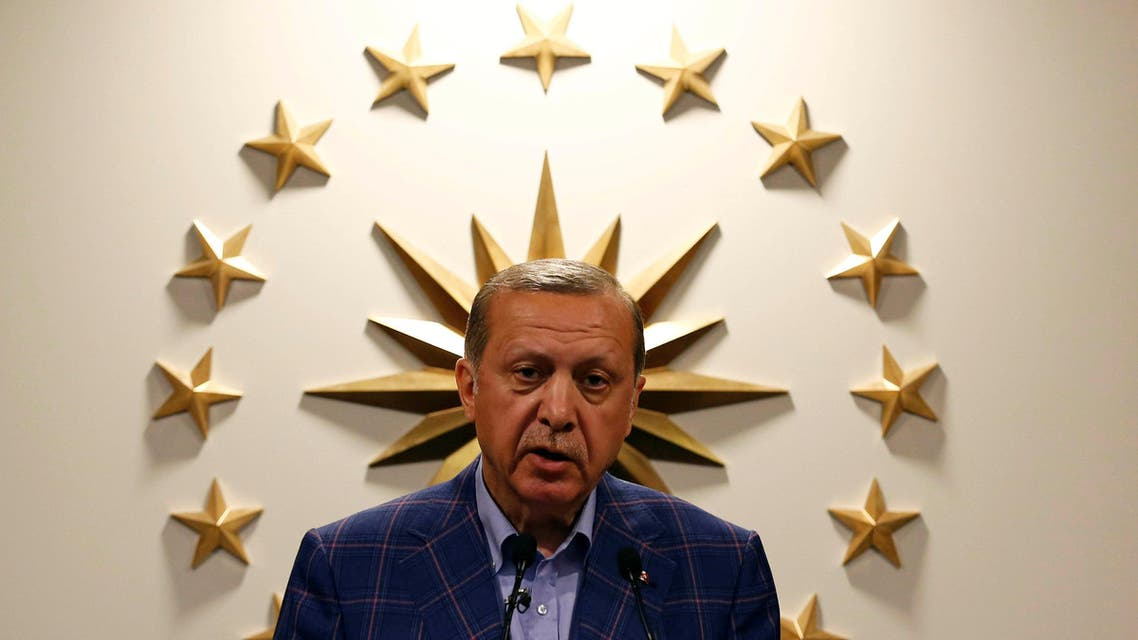 Turkish President Recep Tayyip Erdogan speaks during a news conference in Istanbul, Turkey April 16, 2017. (Reuters)