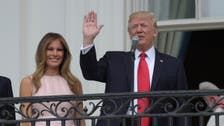 WATCH: Melania nudges President to put hand over heart during national anthem