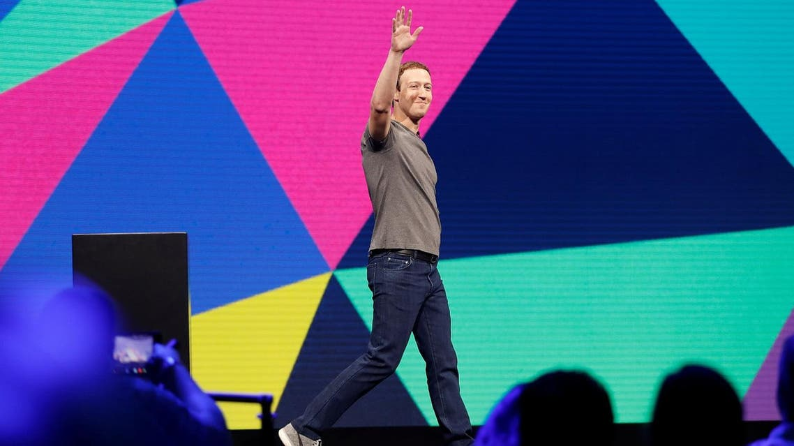 Facebook Founder and CEO Mark Zuckerberg waves as he arrives on stage during the annual Facebook F8 developers conference in San Jose, California, on April 18, 2017. (Reuters)