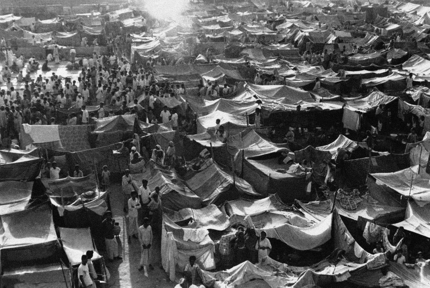 View of the Bangladesh government run camp for members of the Bihari minority on March 4, 1972. (AP)