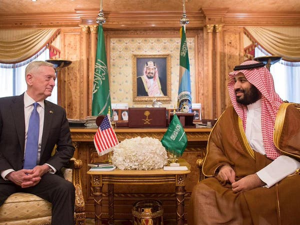 محمد بن سلمان يبحث مع ماتيس محاربة التطرف وسلوك إيران