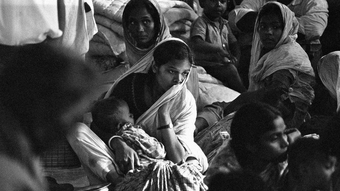 Biharis in the Mohamedpour refugee camp in Dacca, Dec. 22, 1971. (AP)