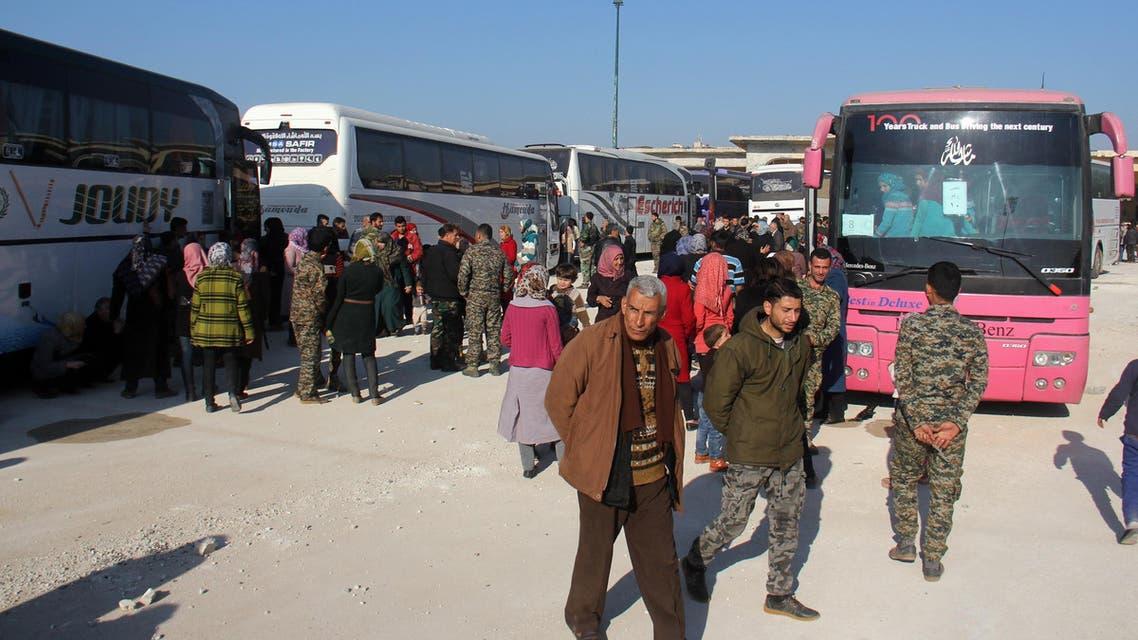 سوريا.. استئناف إجلاء المهجرين من البلدات الأربع