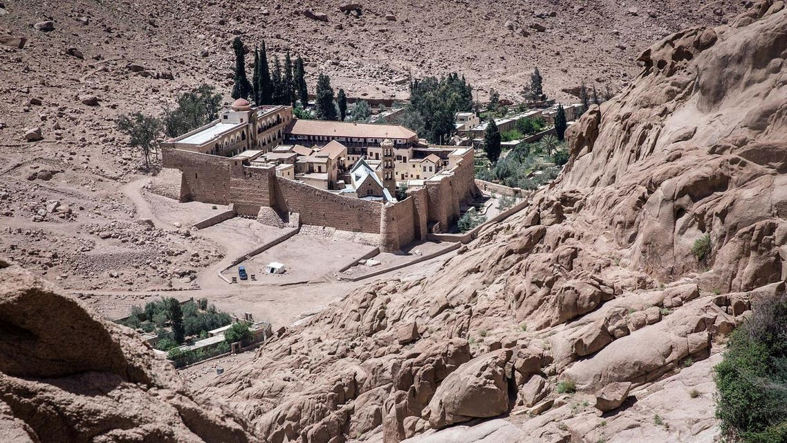 A picture taken on April 16, 2017 shows a general view of the Monastery of St. Catherine in Egypt's south Sinai, where a policeman was killed and three others wounded on April 18, 2017. (AFP)