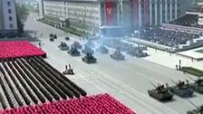 فيديو.. دبابة تحترق في حضرة دكتاتور كوريا الشمالية