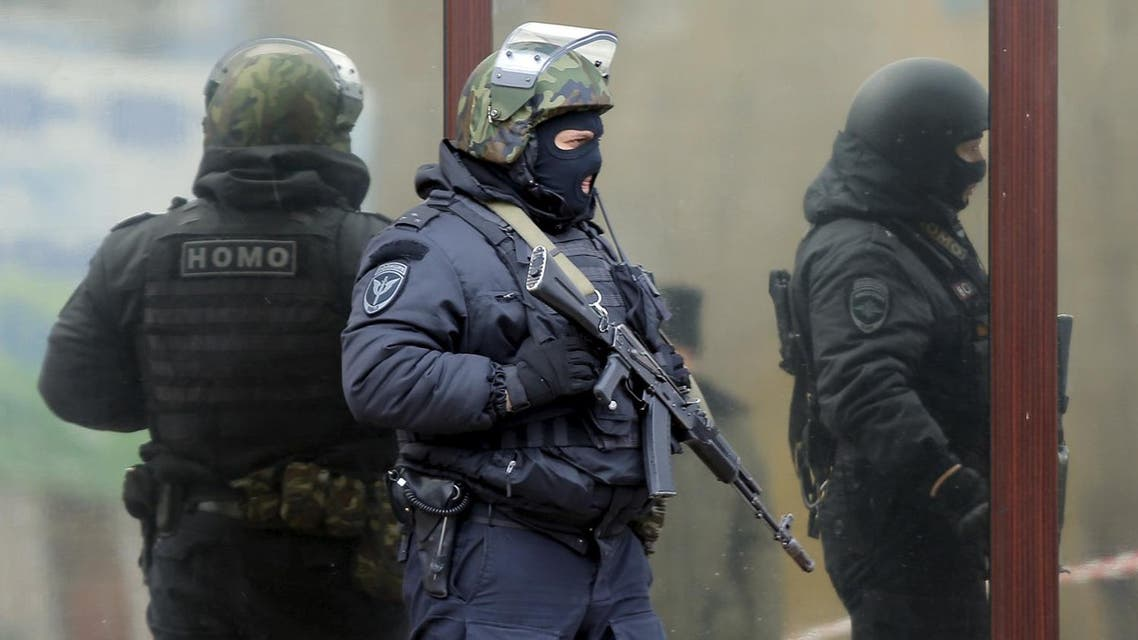 Russian police officers stand guard. (File photo: Reuters)