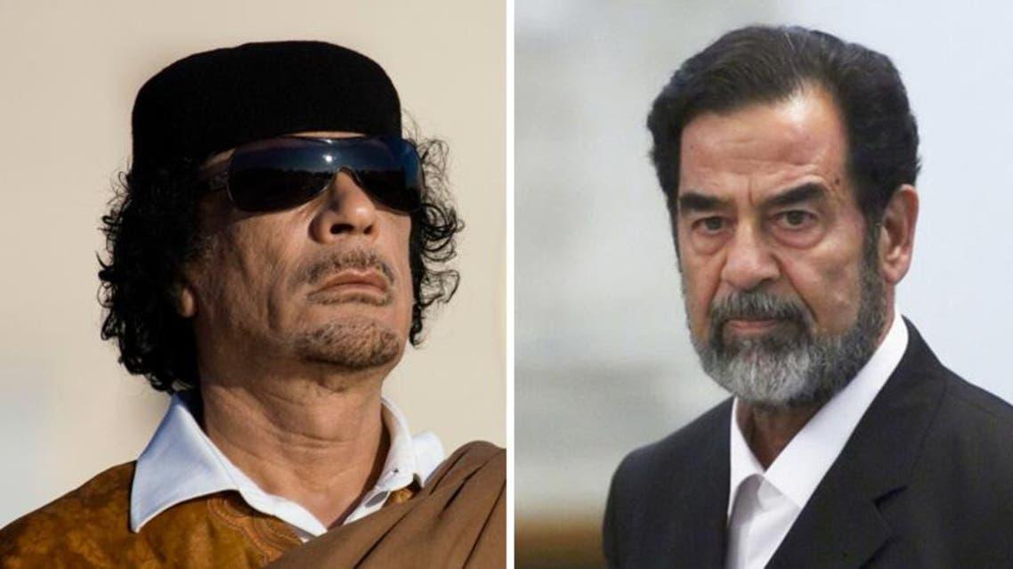 Muammar Gaddafi saddam