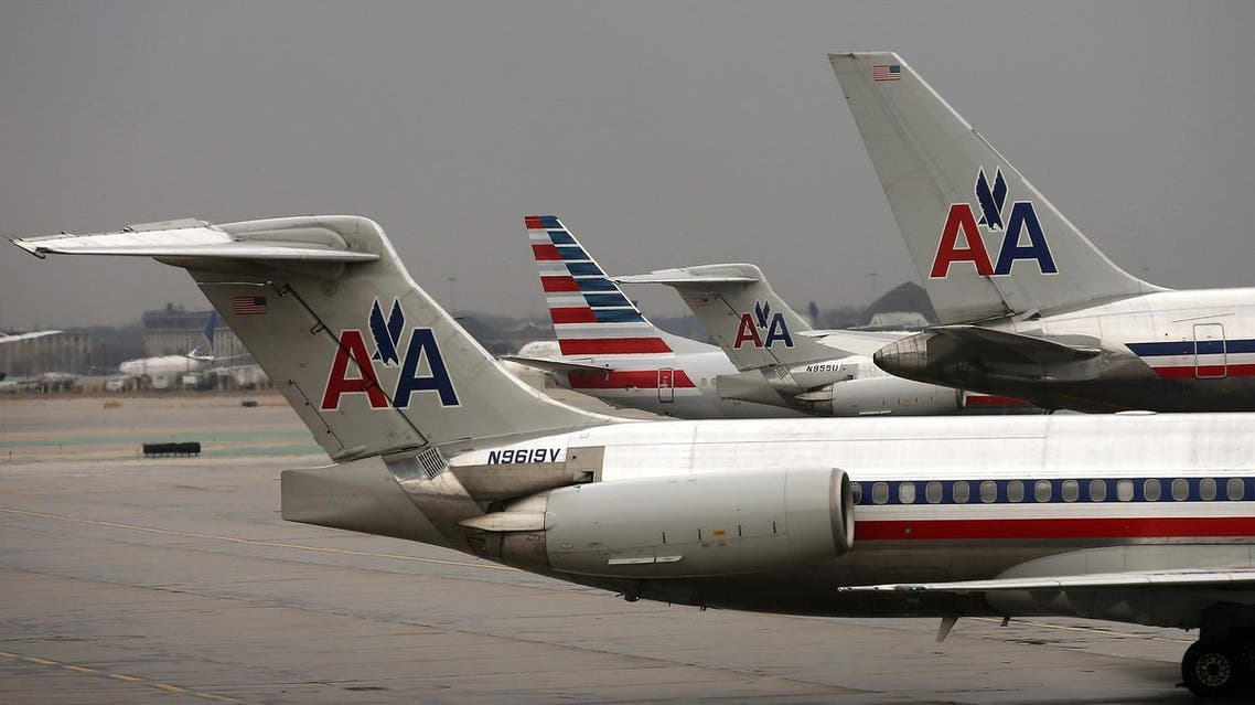 American Airlines aircraft at O'Hare Airport in Chicago, Illinois. (AFP)