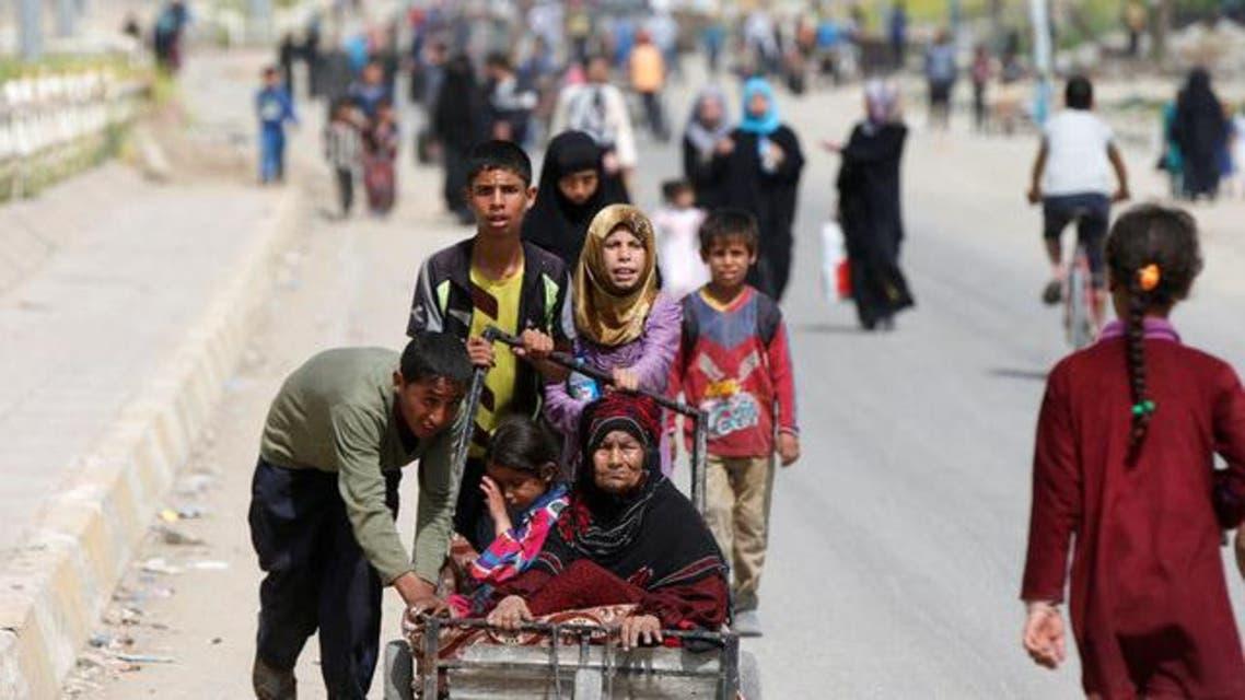 نزوح لاجئين من غرب الموصل