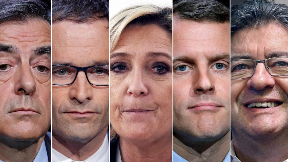 A combination photo shows five candidates for the French 2017 presidential election. (Reuters)