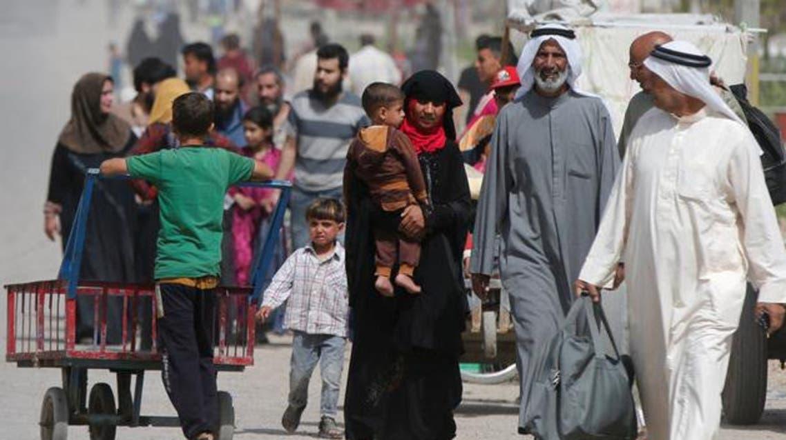 نزوح لاجئين من غرب الموصل 1