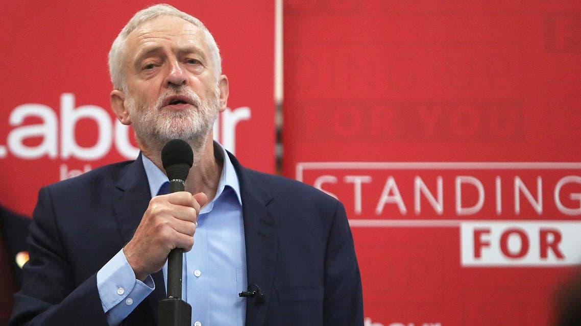 Britain's Labour Party leader Jeremy Corbyn delivers a speech (File Photo Steve Parsons/PA via AP)