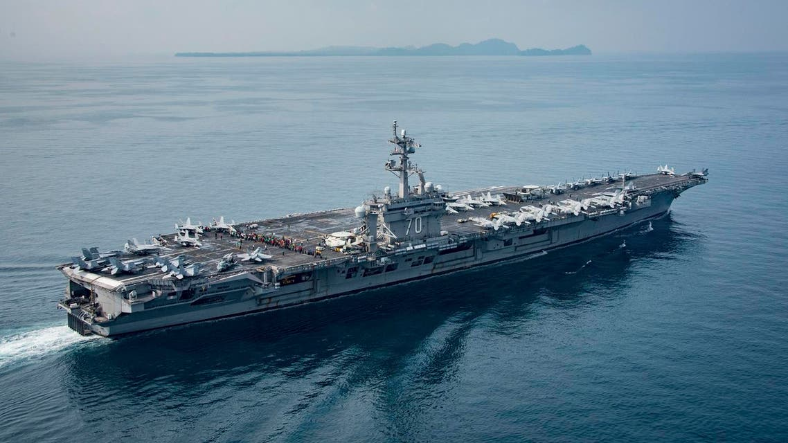 The aircraft carrier USS Carl Vinson transits the Sunda Strait between the Indonesian islands of Java and Sumatra (File Photo: Mass Communication Specialist 2nd Class Sean M. Castellano/The US Navy via AP)