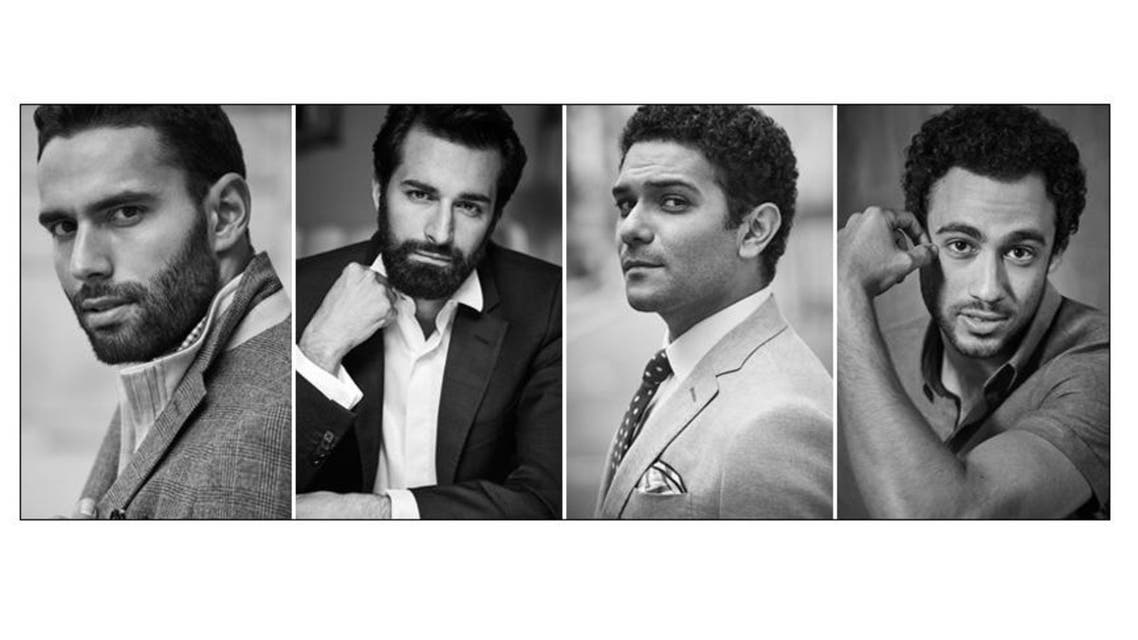 The billboard - advertising men's clothing - featured leading Egyptian male celebrities, including two actors and two athletes. (Facebook)