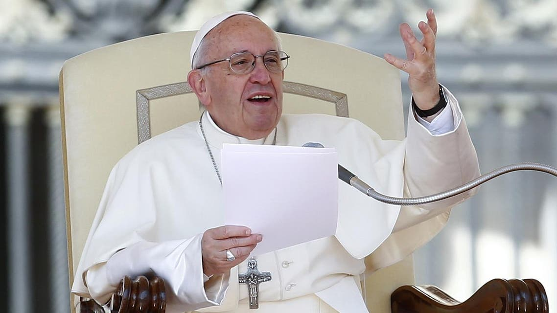Pope Francis talks as he leads the weekly general audience in Saint Peter's Square at the Vatican April 12, 2017. (Reuters)