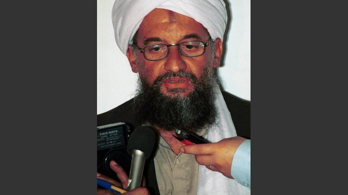 In this in this 1998 file photo Ayman al-Zawahri speaks to the press (File Photo: AP/Mazhar Ali Khan)