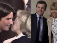 زوجة ماكرون عمرها 40 تعطي قبلة لعاشقها البالغ 15 سنة
