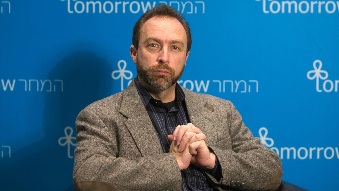 Jimmy Wales, founder of the user-edited Wikipedia, pauses during an interview with Reuters in Jerusalem. (Reuters)