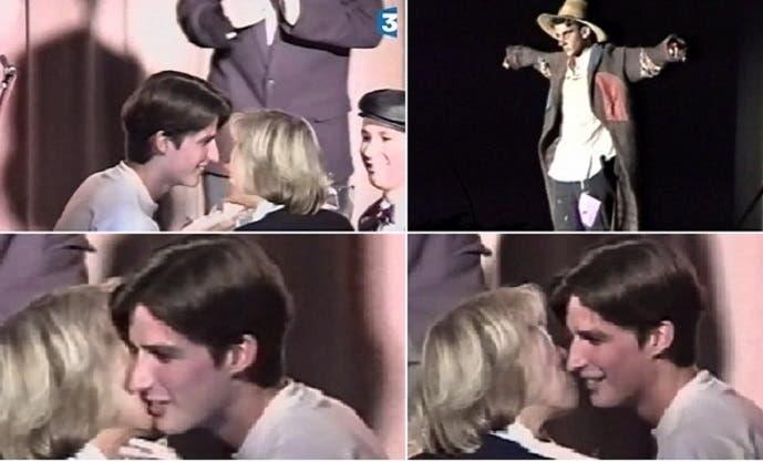 وحين انتهت المسرحية، وكان عمره 15 سنة، هنأته وقبلته وحده بين التلاميذ الذكور