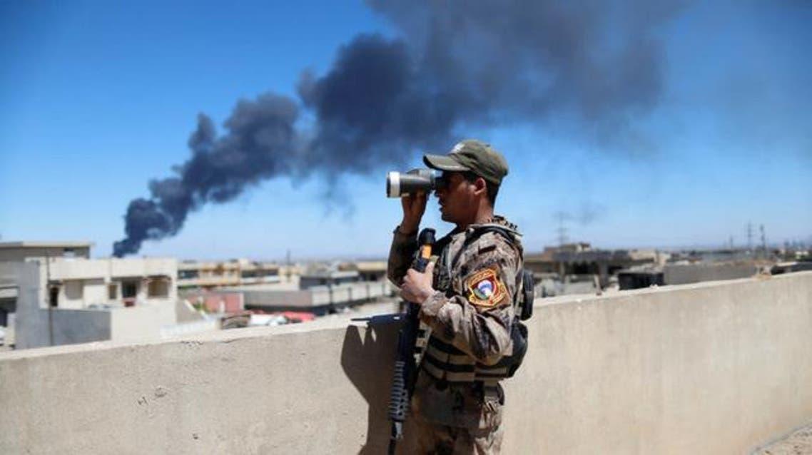 عنصر من قوات مكافحة الإرهاب العراقية في غرب الموصل