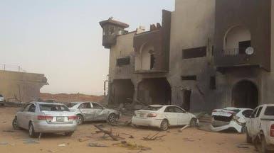 قصف جوي لسجن بسبها جنوب ليبيا وتبادل اتهامات