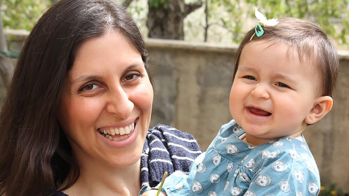 An undated handout image released by the Free Nazanin campaign in London on June 10, 2016 shows Nazanin Zaghari-Ratcliffe (L) posing for a photograph with her daughter Gabriella. AFP