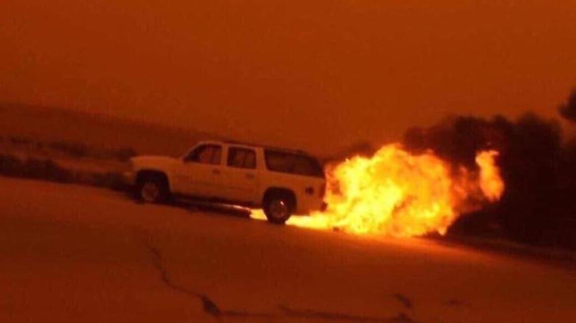 صورة بثها تنظيم داعش للهجوم على حرس الحدود العراقي