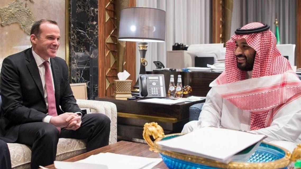 ولي ولي العهد يبحث مع مبعوث ترمب للتحالف مكافحة داعش