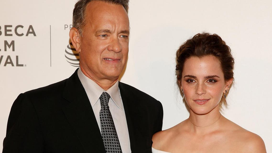 Actors Emma Watson and Tom Hanks arrive for 'The Circle' premiere at the Tribeca Film Festival in the Manhattan borough of New York, New York, US on April 26, 2017. (Reuters)
