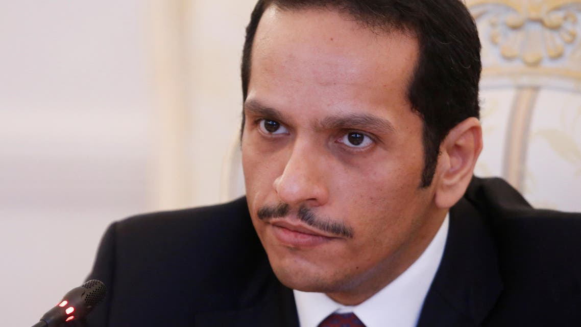 Qatari Foreign Minister Sheikh Mohammed bin Abdulrahman bin Jassim Al-Thani attends a meeting with Russian Foreign Minister Sergei Lavrov in Moscow, Russia, April 15, 2017. REUTERS