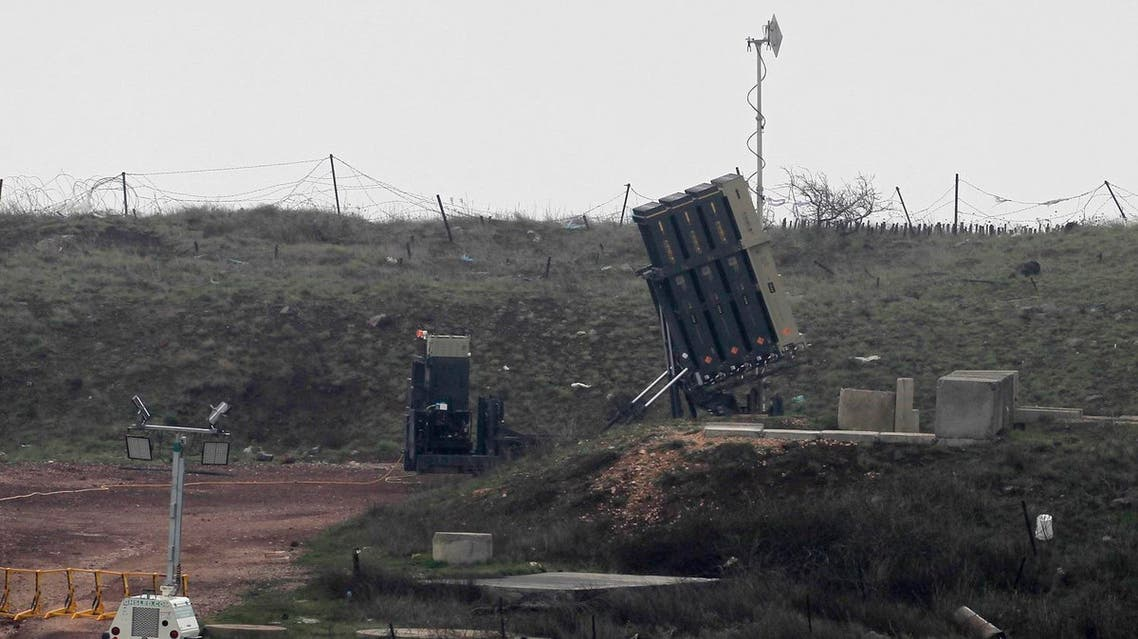 A general view taken on March 17, 2017 shows Israel's Iron Dome defence system, designed to intercept and destroy incoming short-range rockets and artillery shells, deployed in the Israeli-occupied Golan Heights near the Israel-Syria border on March 17, 2017. Israeli warplanes struck several targets in Syria, prompting retaliatory missiles launches, in the most serious incident between the two countries since the Syrian civil war began six years ago. (AFP)