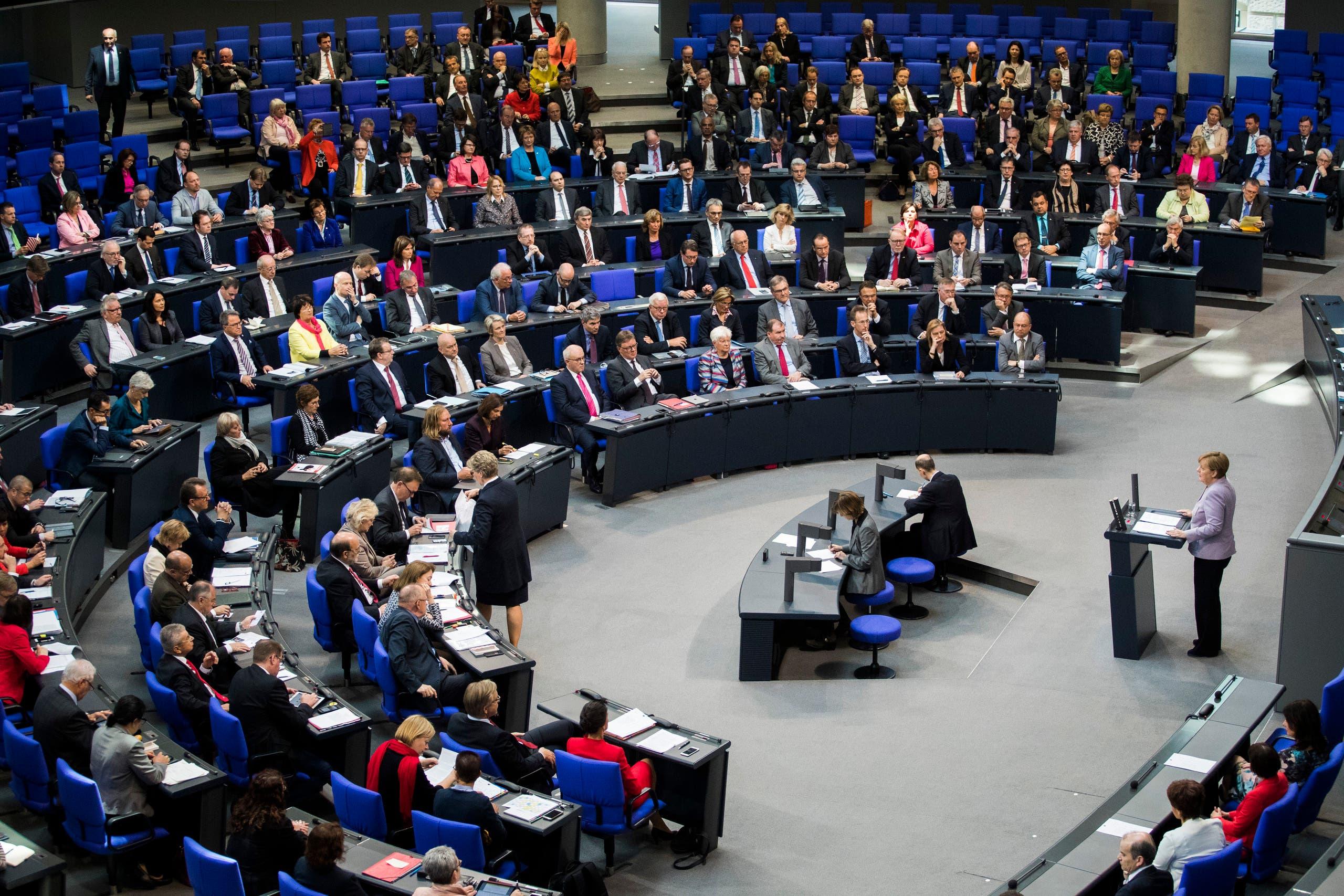 ميركل تتحدث أمام البرلمان الألماني