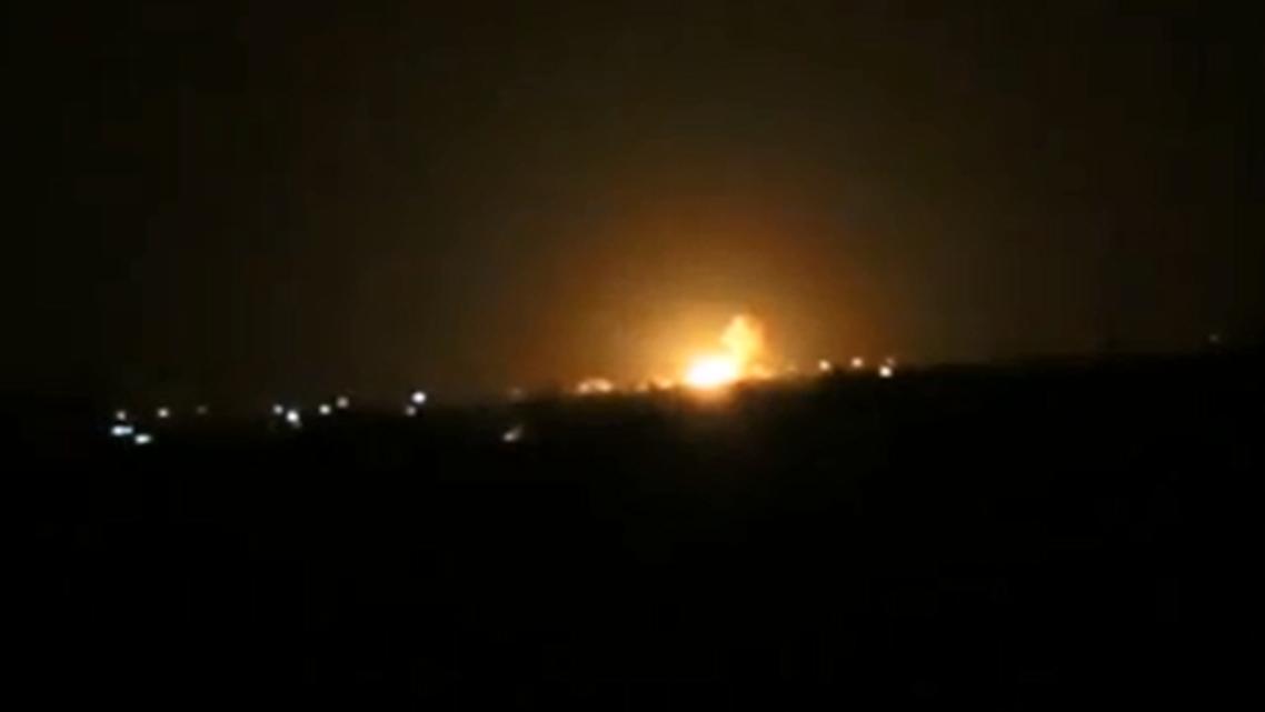 انفجار كبير في محيط مطار دمشق الدولي