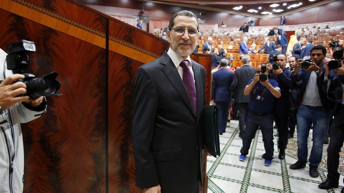 Prime Minister Saad Eddine el-Othmani arrives at the Moroccan Parliament in Rabat, Morocco April 19, 2017. (Reuters)