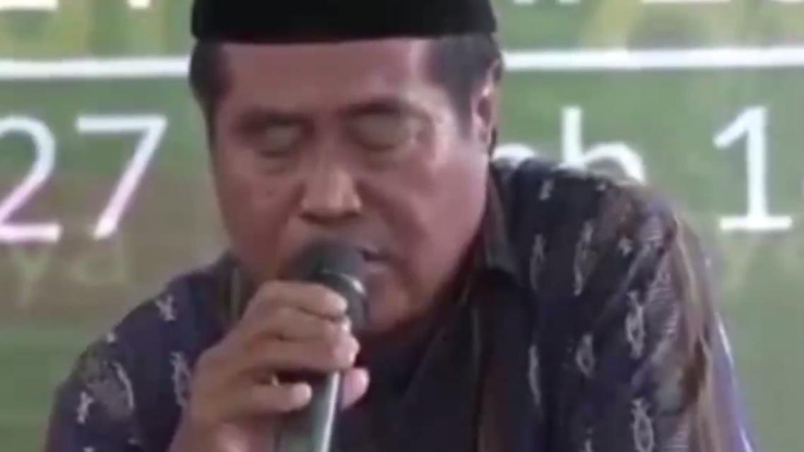 Sheikh Ja'far Abdulrahman died while reciting the Quran in Indonesia. (Screen grab)